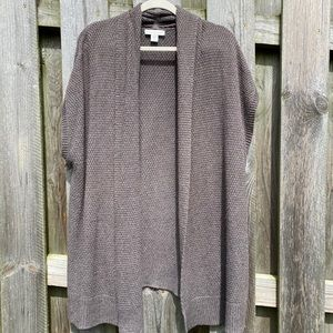 Coldwater Creek oversized open front Cardigan